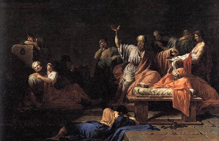 Жан-Франсуа-Пьер Пейрон «Смерть Сократа» / Фото: mymodernmet.com