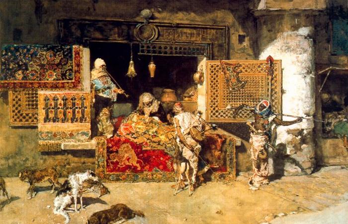 Мариано Фортуни  «Продавец гобеленов», 1870 г. / Фото: jdavidsen.wordpress.com