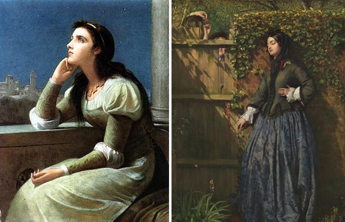 Работы Кальдерона: «Джульетта» (1888)  / «Нарушенные клятвы» (1856)