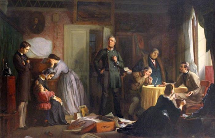 Журавлев Ф. С. «Кредитор описывает имущество вдовы», 1862. Холст, масло / Фото: bibliotekar.ru
