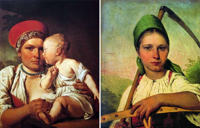 Кормилица с ребенком / Девушка с косой