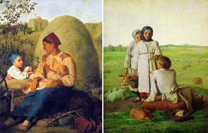 Сенокос / Крестьянские дети в поле