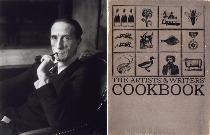 Марсель Дюшан и обложка «Поваренной книги художников и писателей» (1961)