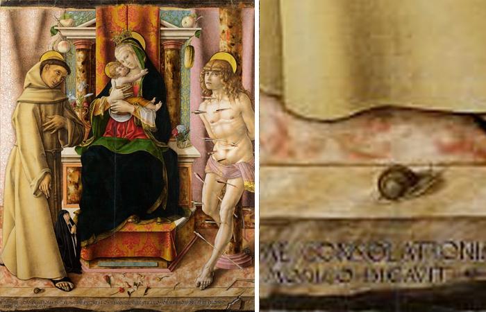 Мадонна с Младенцем и святыми Франциском и Себастьяном, Карло Кривели