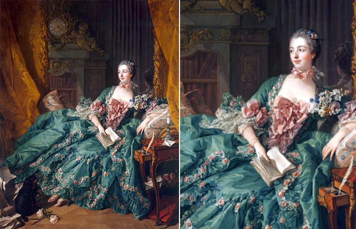 Франсуа Буше «Портрет мадам де Помпадур», 1756, Мюнхен, Старая пинакотека