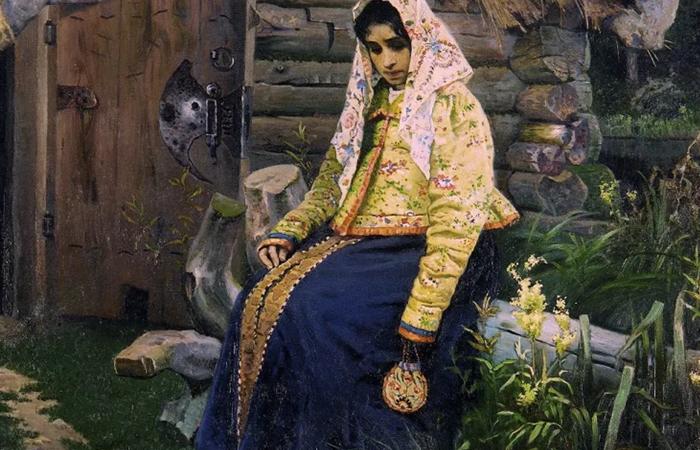 Картина Нестерова «За приворотным зельем». Героиня  / Фото: arthive.com