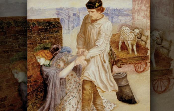 Данте Габриэль Россетти «Найденная», 1851 год