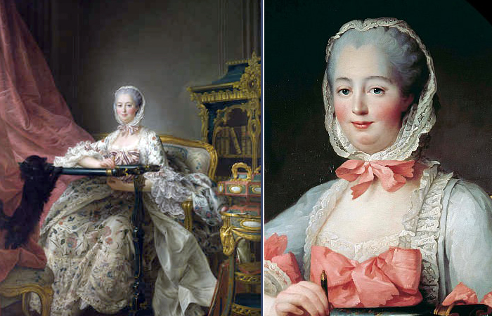 Друэ «Мадам де Помпадур у ее тамбурной рамы», 1763-1754 гг.