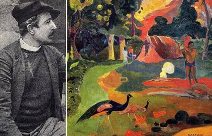 Поль Гоген: фото и «Пейзаж с павлинами» (1892)