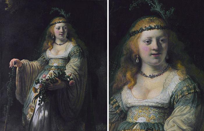 Флора № 2: «Саския в аркадском костюме», 1635