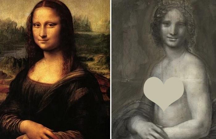 «Портрет госпожи Лизы дель Джокондо» 1503—1519 / «Обнажённая донна», конец XVI века