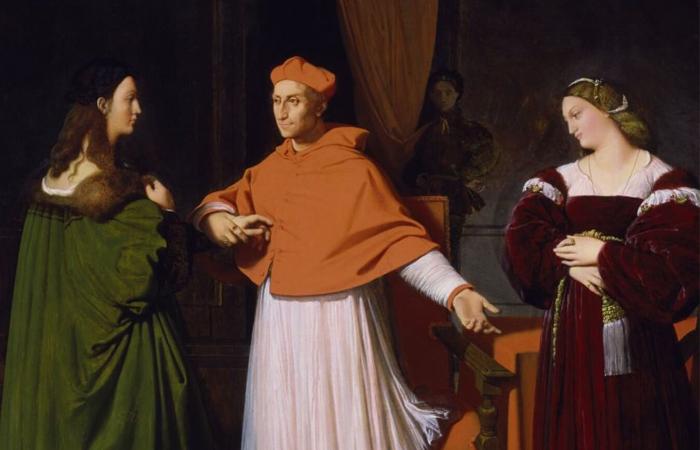 Жан-Огюст-Доминик Энгр. Обручение Рафаэля и племянницы кардинала Биббиена