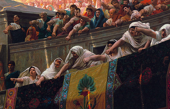«Pollice verso» («Пальцы вниз») картина французского художника Жана-Леона Жерома (1872), фрагмент / Фото: artstation.com
