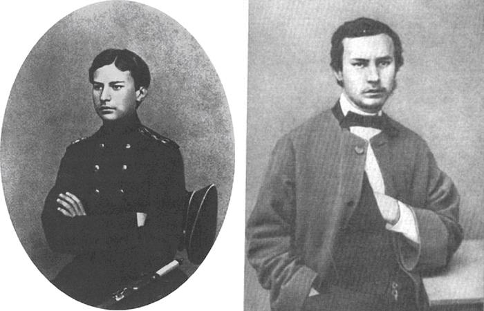 Верещагин - кадет и Верещагин - студент Академии художеств