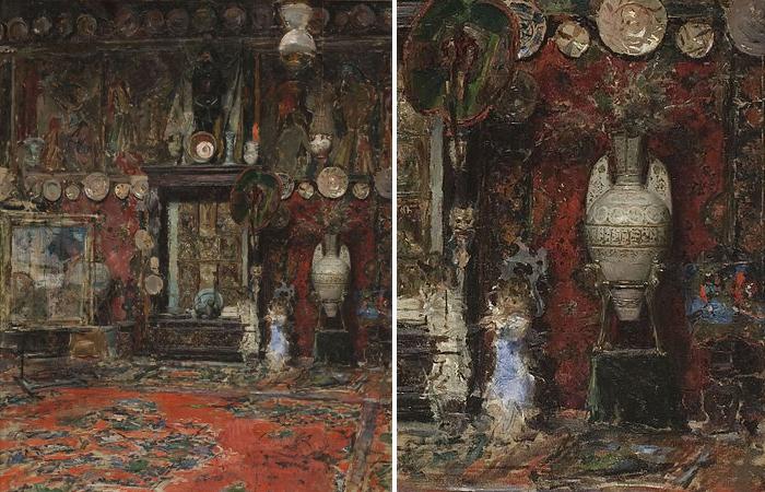 «Студия Мариано Фортуни», картина его друга и зятя Рикардо де Мадрасо