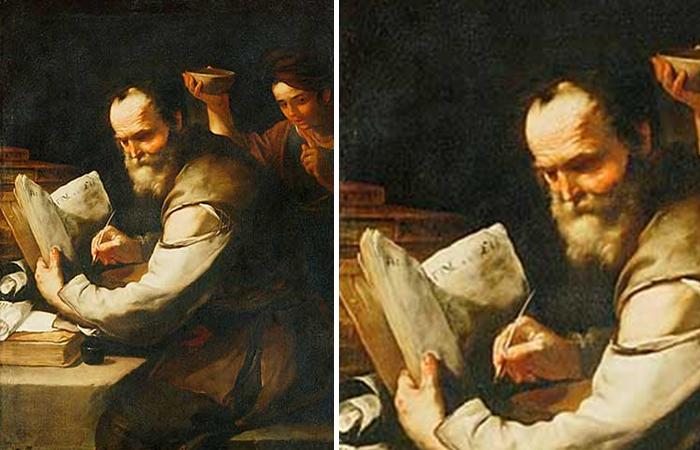 Лука Джордано «Ксантиппа льет воду в воротник Сократа»
