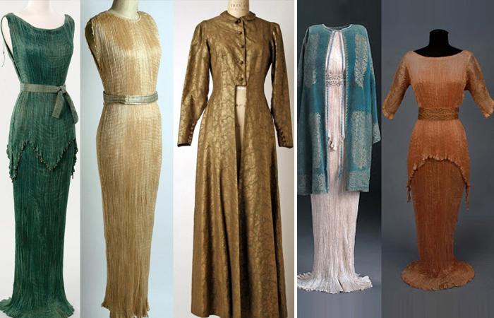 Платья, выполненные в дизайне Мариано Фортуни (Дельфос)
