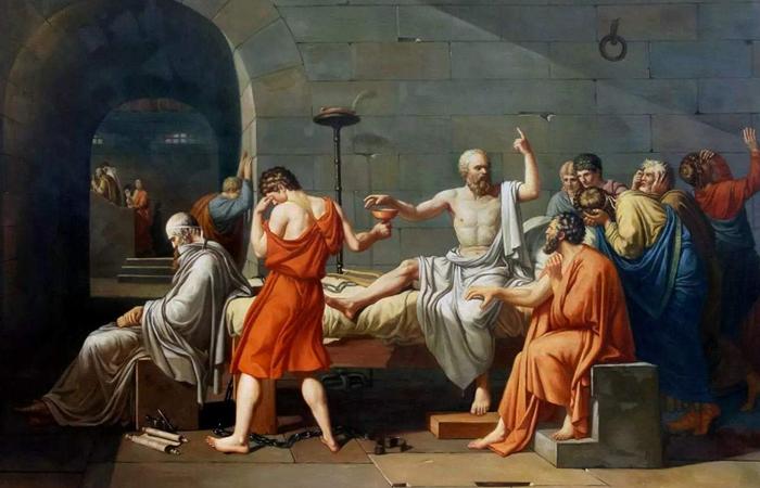 «Смерть Сократа» Жак-Луи Давид / Фото: mymodernmet.com