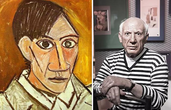 «Автопортрет Пабло Пикассо» (1907) и его фотография