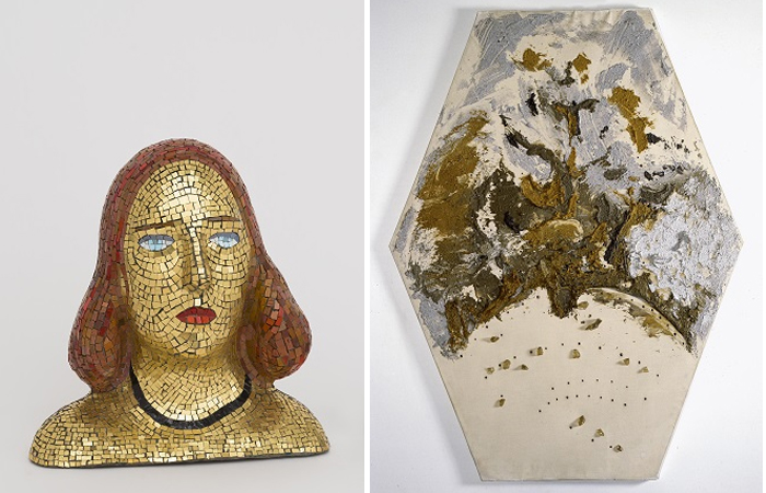 Лучо Фонтана «Портрет Терезиты» (1940) / «Пространственная концепция. Рай» (1956)