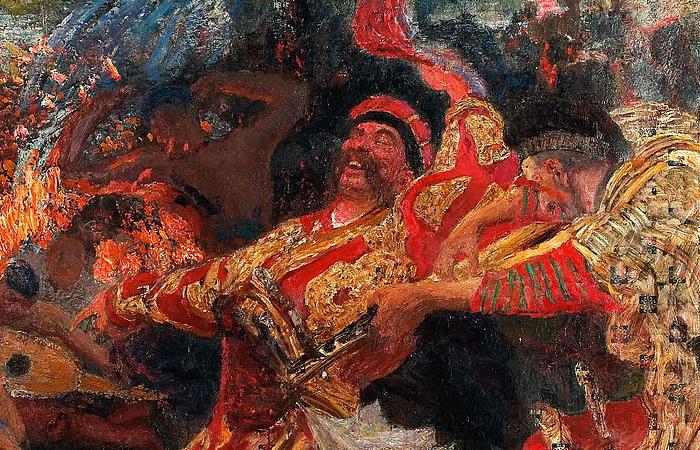 Фрагмент картины Илья Репина «Гопак» (1926-1930)
