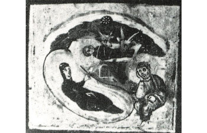 """Фрагмент иконы """"Sancta Sanctorum"""
