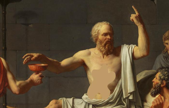 «Смерть Сократа» Жак-Луи Давид , фрагмент / Фото: mymodernmet.com