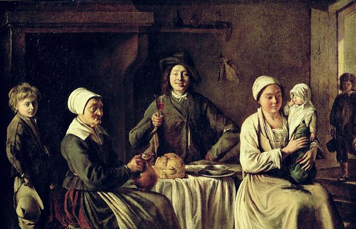 Луи Ленен «Счастливое семейство» (Лувр) 1642 / Фото: britannica.com