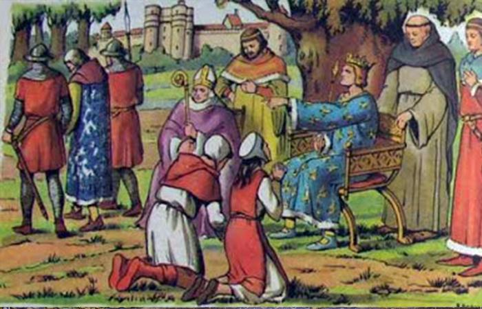 Король Людовик IX вершит суд в Венсенском лесу / Фото: sundukistorii.blogspot.com