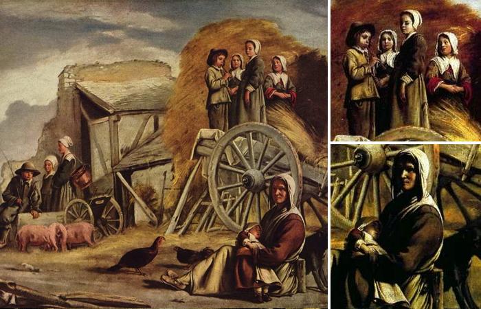 Работа братьев Ленен «Крестьянская телега» (1641)