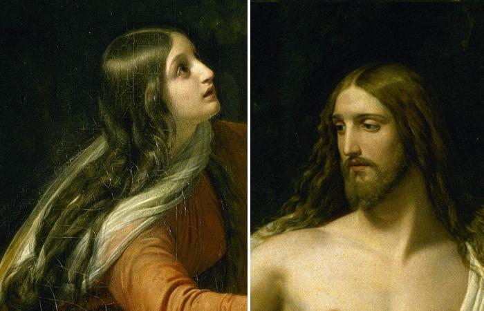«Явление Христа Марии Магдалине после Воскресения в Италии» Александр Иванов, фрагменты