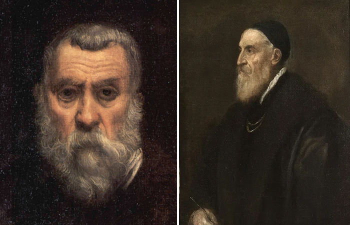 Портреты Тинторетто и Тициана