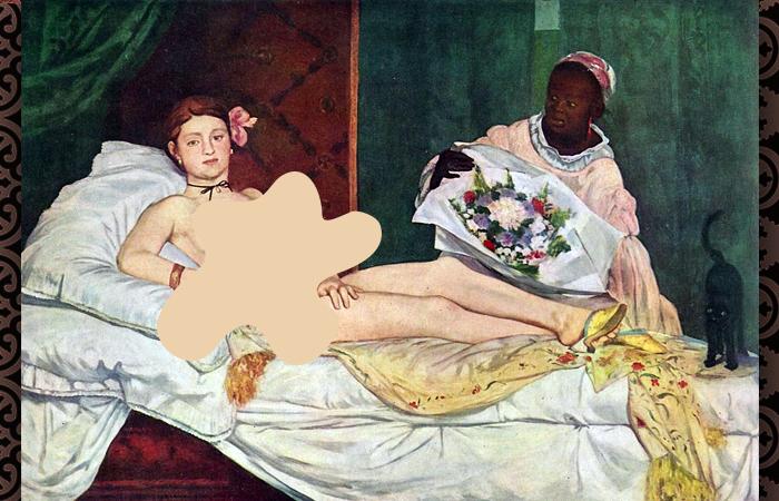 Эдуард Мане «Олимпия», 1863, Музей Орсе, Париж