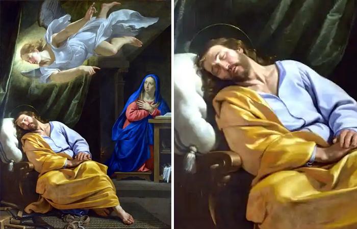 Филипп де Шампань «Сон святого Иосифа», Национальная галерея, Лондон