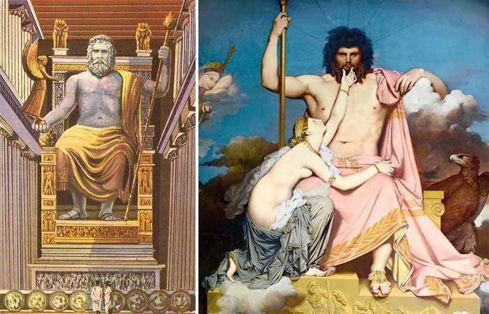 Зевс Фидия / Юпитер и Фетида Энгра