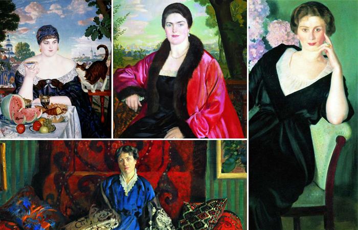 Женские портреты Кустодиева