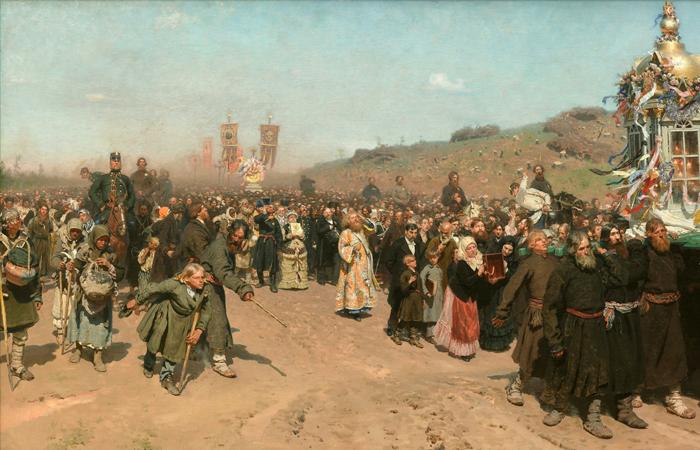 И. Е. Репин. «Крестный ход в Курской губернии». 1883