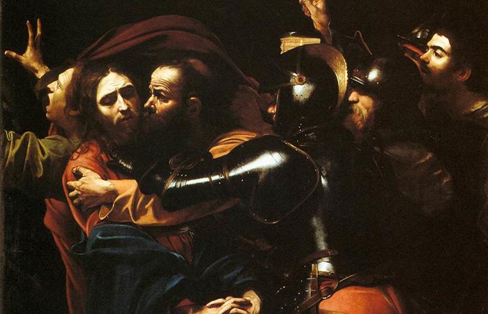 «Поцелуй Иуды» Караваджо, ок. 1602 / Фото: artcyclopedia.com