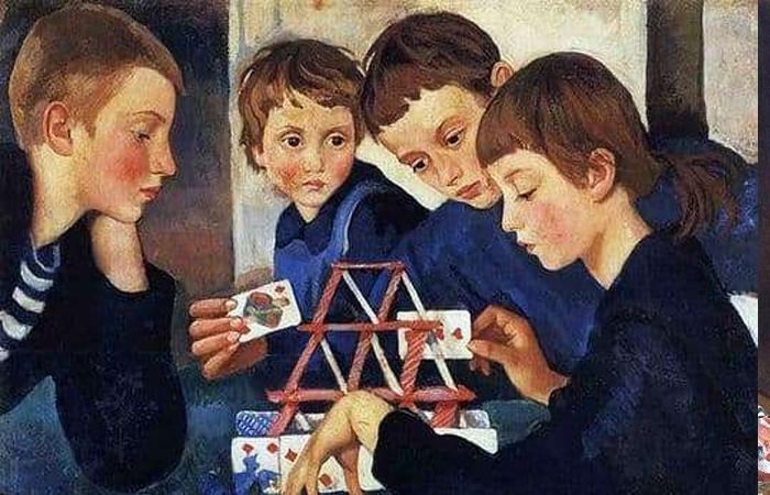 Зинаида Серебрякова «Карточный домик» (1919) фрагмент / Фото: getdailyart.com