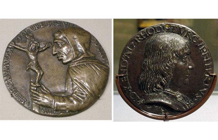 Никколо Ди Форзоре Спинелли, медаль Джироламо Савонаролы, около 1492—1494 / Никколо ди Форзоре Спинелли , медаль Джона Кендала, 1480 г.