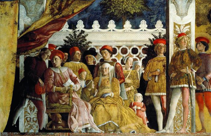 Фреска в Камере дельи Спози. 1474. Мантуя (Андрея Мантенья)