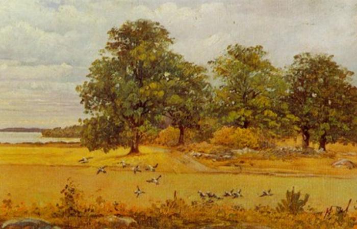 «Позднее лето», картина Хильмы аф Клинт 1903 года