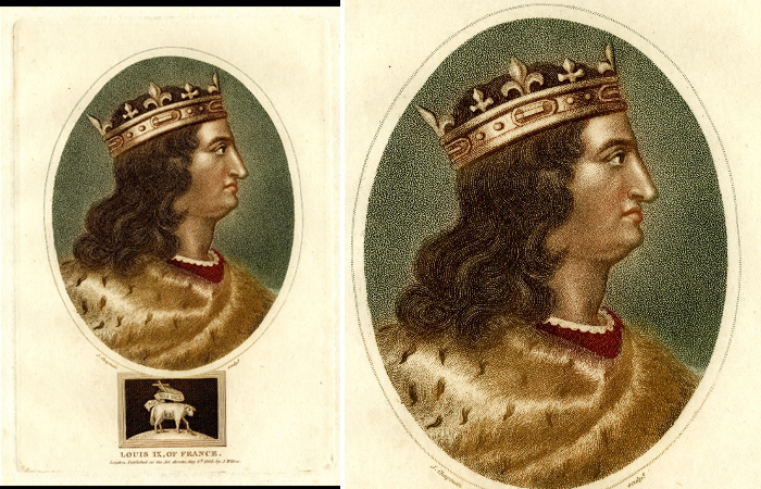 «Портрет Людовика IX, короля Франции» (1801), Дж. Уилкс