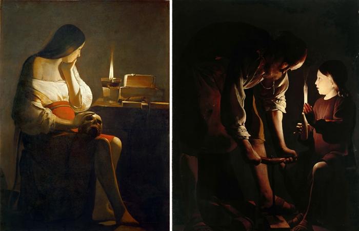 Жорж де Латур «Кающаяся Мария Магдалина» и «Иосиф-плотник»