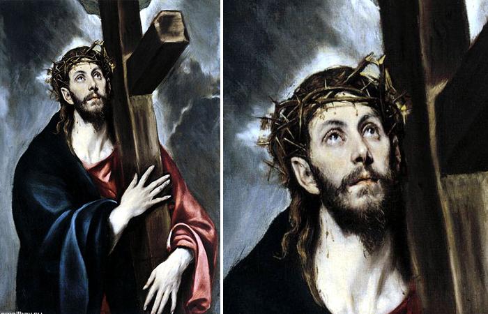 «Христос, несущий крест» Эль Греко, 1578 г.
