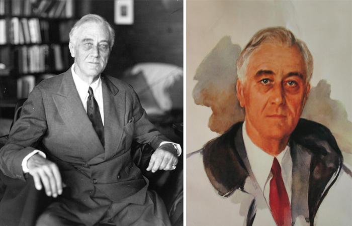Фото 11 апреля 45-го и незавершенный портрет