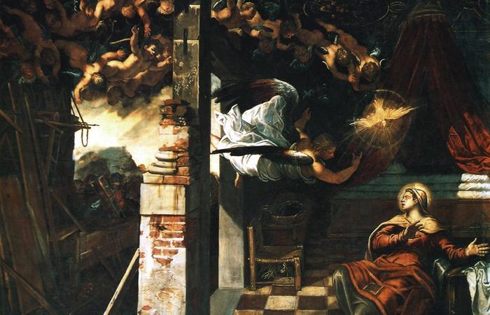 «Благовещение». Якопо Тинторетто. 1576-1581 / Фото: smallbay.ru