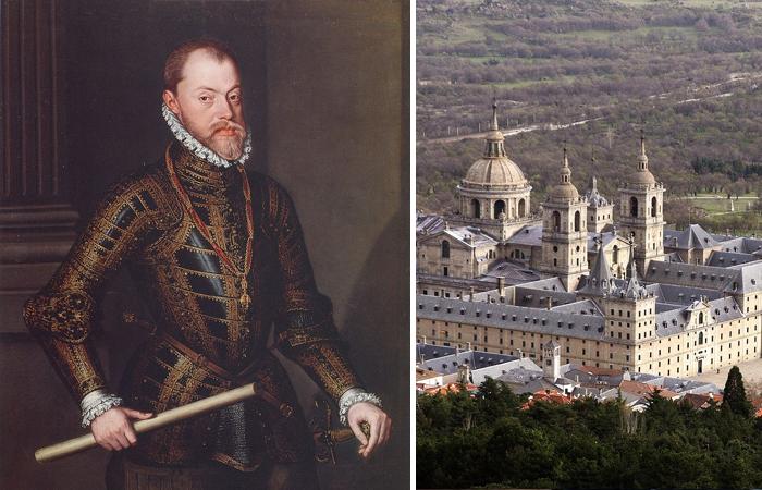 Филипп  II и его Эскориал (резиденция)