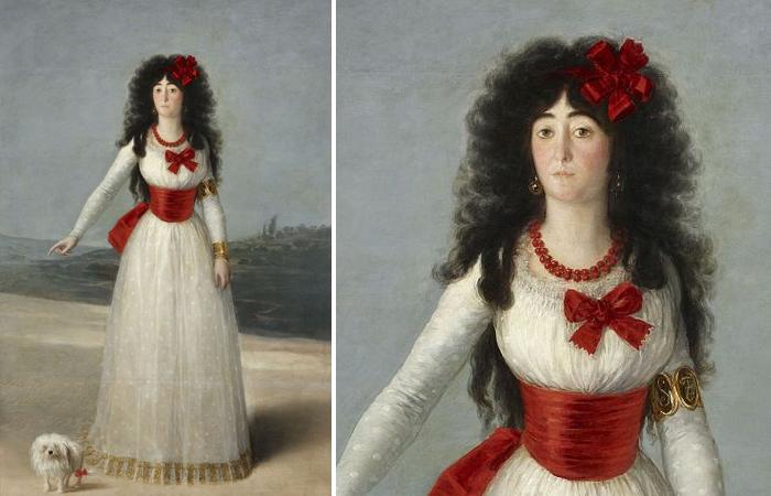 Портрет герцогини Альба — т. н. «Белая герцогиня» — работы Франсиско Гойи, 1795.