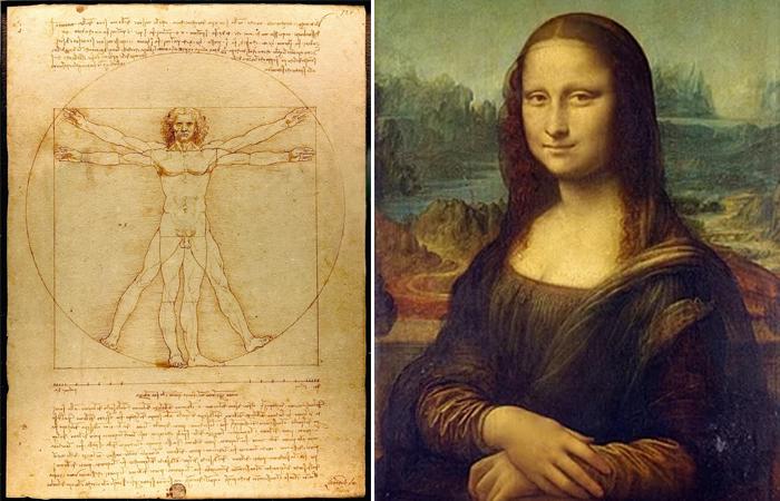 """Витрувианский Человек и """"Мона Лиза"""""""